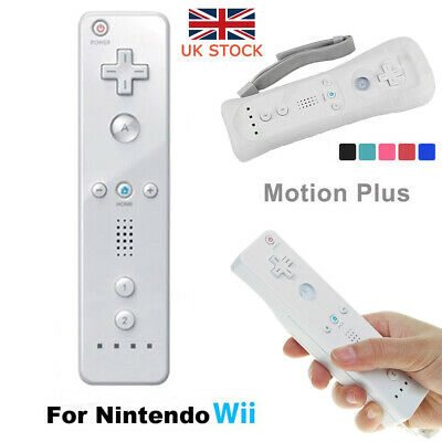 UK Wireless Game Remote Controller Built-in Motion Plus Inside for Nintendo Wii