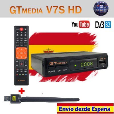 GTMEDIA DVB-S2 V7S+Wifi Satellite Receiver Bisskey Digital Full HD 1080p