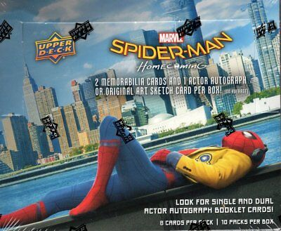 2017 Upper Deck Spider-Man Homecoming Trading Card SEALED BOX Autograph / SKETCH
