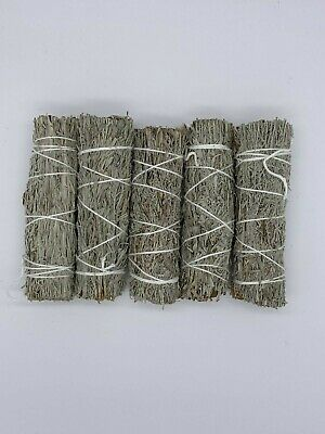 "5 Blue Sage Smudge Sticks / Wands 4 - 5 "" Negativity Removal"