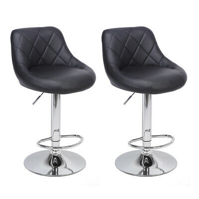 Surprising Black And Chrome Adjustable Swivel Bar Stool Chair By Theyellowbook Wood Chair Design Ideas Theyellowbookinfo