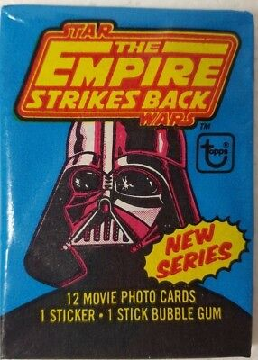 Star Wars THE EMPIRE STRIKES BACK Vintage CARD Wax Pack 1980 TOPPS 2nd Series