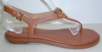 b0887f0ecdf3 Michael Kors Size 6.5 M LEE Brown Leather Ankle Strap Sandals New Womens  Shoes
