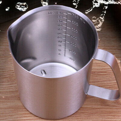 Stainless Steel Milk Frothing Jug Frother Coffee Latte Container Tea Pitcher UK