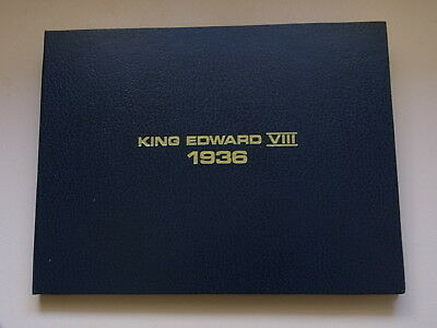King Edward VIII - (1936) Folder with capsules to hold 12 Fantasy Crowns..