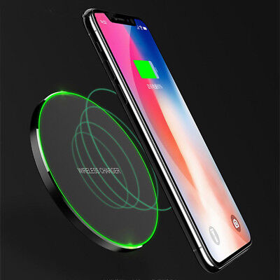 Qi 10W Wireless Fast Charger Charging Pad For Samsung Note 8 S9 iPhone X 8 Plus