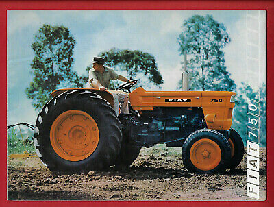 Fiat 750 Tractor 6 Page Foldout Brochure