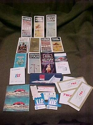 Souvenir Lot #2 New York Worlds Fair 1964 Brochures Maps Esso Shell Oil Gm Cars