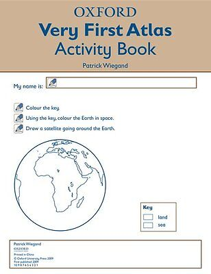 Oxford Very First Atlas Activity Book, Paperback; Wiegand, Patrick, Geography