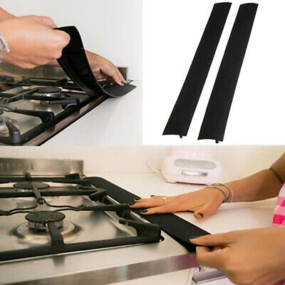2Pcs Silicone Kitchen Stove Counter Gap Cover Oven Guard Spill Seal Filler Kit