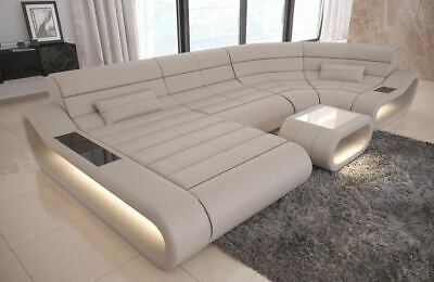 Enjoyable Big Sectional Sofa Atlanta Xl Shape Leather Couch Led Lights Inzonedesignstudio Interior Chair Design Inzonedesignstudiocom