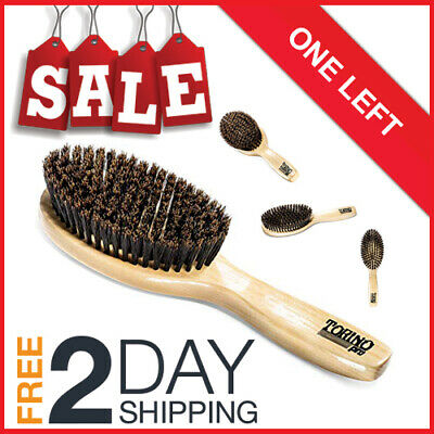 Torino Pro Wave Brush #1190 by King Soft Oval Palm 9 Row Long Handle 360 Waves