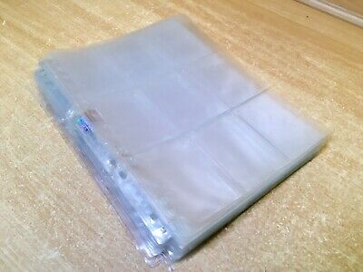 39 plastic 9 pocket trading card sleeves pages album/binder