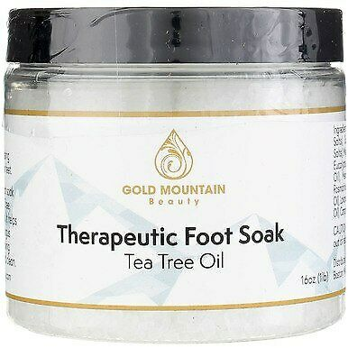 3 Pack Gold Mountain Beauty Therapeutic Foot Soak Powder, Tea Tree Oil, 16 oz