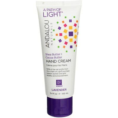 2 Pack Andalou Naturals Shea Butter + Cocoa Butter Hand Cream, Lavender, 3.4 ...
