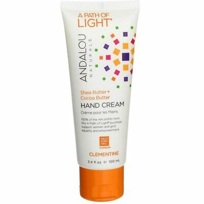 2 Pack Andalou Naturals Shea Butter + Cocoa Butter Hand Cream, Clementine, 3....