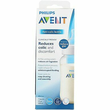 3 Pack Phillips Avent Anti-Colic Baby Bottle, 11 oz