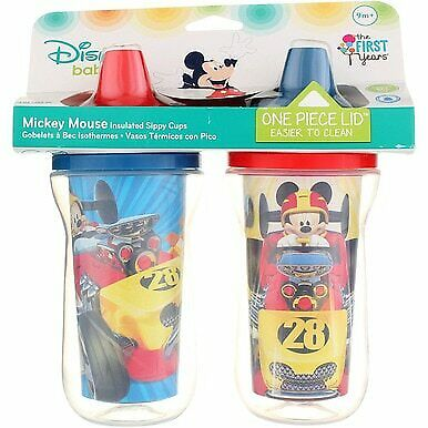 3 Pack The First Years Disney Insulated Sippy Cup, Mickey Mouse, 9 oz, 2 Ct