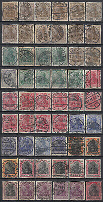 Germany DEUTSCHES REICH ☀ GERMANIA used stamps ☀ 54v used (unchecked) scan