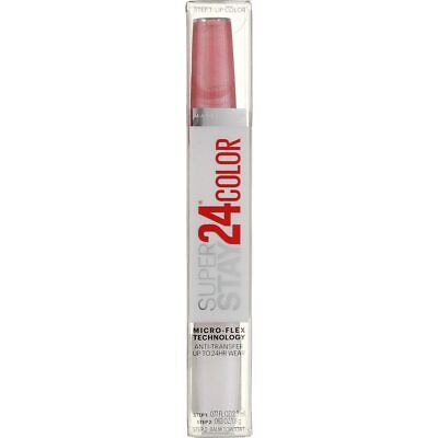 4 Pack Maybelline Super Stay 24 2-Step Liquid Lipstick, So Pearly Pink 110, 0...