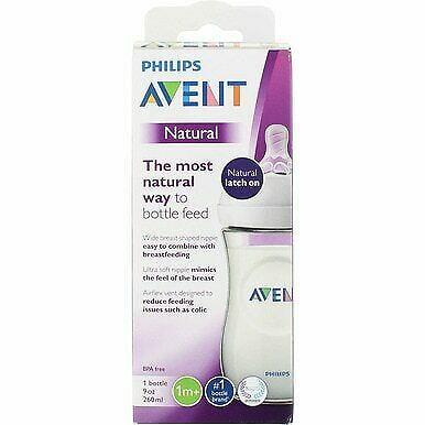 4 Pack Phillips Avent Natural Baby Bottle, 9 oz