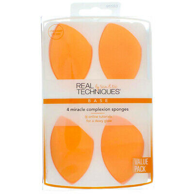 4 Pack Real Techniques Miracle Complexion Sponge, 4 Ct