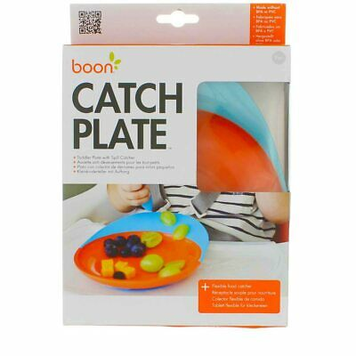 4 Pack Boon Catch Toddler Plate, Blue/Orange
