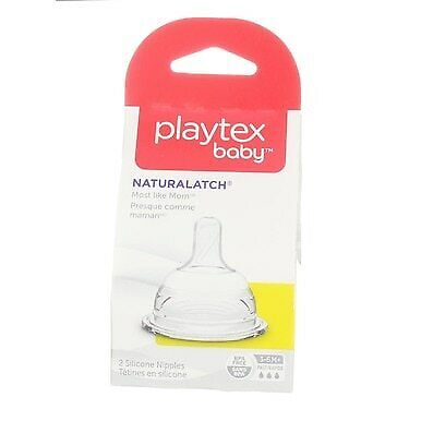 4 Pack Playtex Baby NaturaLatch Nipple, Fast Flow, 3-6 months, 2 Ct