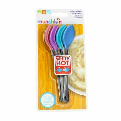4 Pack Munchkin White Hot Safety Spoons, 4 Ct