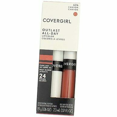 4 Pack CoverGirl Outlast All-Day Lip Color, Canyon 626, 0.065 fl oz, 2 Ct