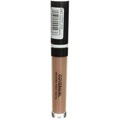 4 Pack CoverGirl Melting Pout Matte Liquid Lipstick, Current Nude 340, 0.11 f...