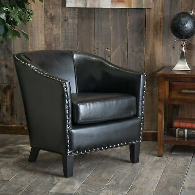 ... Austin Black Bonded Leather Club Chair By Christopher Knight Home 2