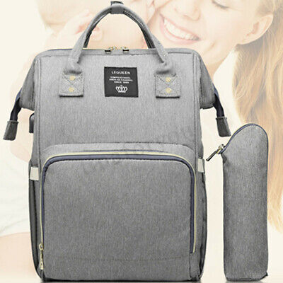 LEQUEEN Waterproof Baby Nappy Diaper Bag Mummy Maternity Travel USB