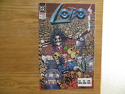 1990 Vintage Dc Lobo # 4 Signed By Simon Bisley, With Poa