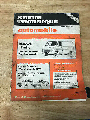 revue technique automobile  numero 429 renault trafic
