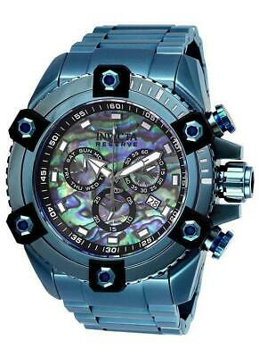 Invicta Reserve Grand Octane 27078 Blue Abalone Swiss Chronograph Watch RARE