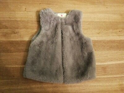 Baby Girl Faux Fur Gillet 18-24 Months Grey Primark Sold Out