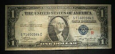 "1935-A One Dollar $1 Silver Certificate ""R"" Experimental Note- Nice Note!"