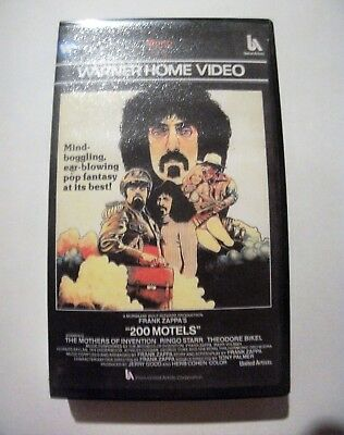 200 Motels VHS Frank Zappa PAL Mothers of Invention  Black Clamshell Case