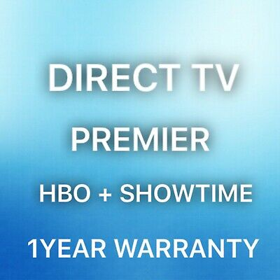 Direct Tv Premier Live TV Package HBO Showtime 1 Year
