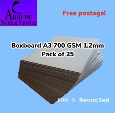 Boxboard A3 700GSM 1.2mm thick Backing Boards Chip Board - Pack of 25