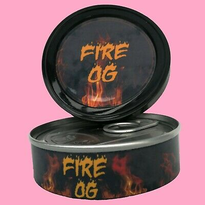 288 x Fire OG Medical Cali Weed RX Stickers Labels & 3.5g Press it in Tuna Tins