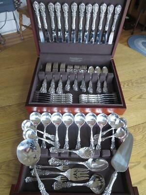 Mint Reed Barton Francis I Sterling Silver Flatware*Set-S-12+Servers*80P*Perfect