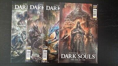 2018 Titan Comics Complete Set Of Dark Souls The Age Of Fire #1-4 Nm