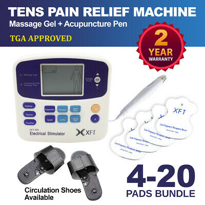 Physio Tens Machine XFT-320A Pain Relief Massager Acupuncture Pen Extra Pads
