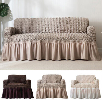 "27""-90"" Plush Elastic Sofa Covers Stretch Couch Slipcover Furniture Protector US"
