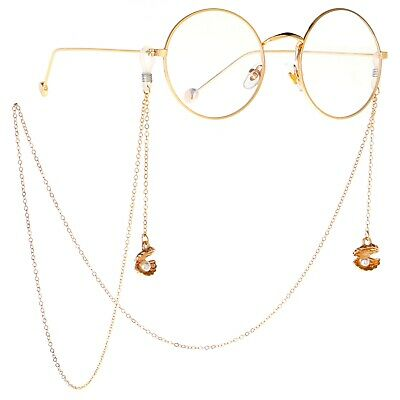 Shell Pearl Eyeglass Cord Reading Glasses Eyewear Spectacles Neck Chain Holder