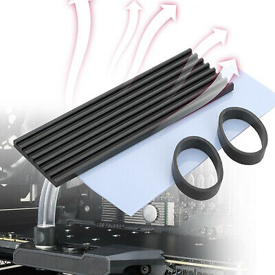 Black Aluminum Cooling Heat Sink with Thermal Pad For M.2 NGFF NVMe PC BSB