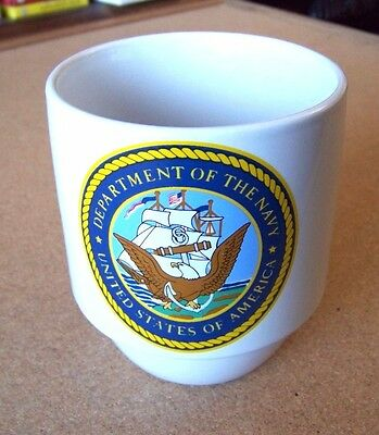 Department of the Navy United States of America handled ceramic mug cup