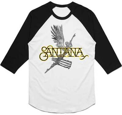 SANTANA Angel Raglan 3/4 Long Sleeve T SHIRT S-M-L-XL-2XL New Hi Fidelity Merch